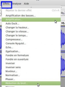 Amplification des sons ou Réduction du bruit de fond avec Audacity
