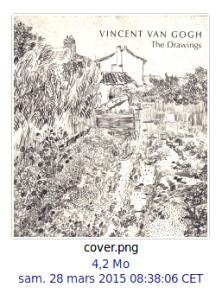 Type de fichier image sauvegardé
