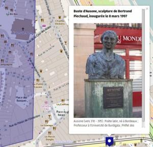Buste d'Ausone à Bordeaux