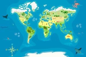 Une des cartes du monde déposées par Arnaud Pérat sur data.