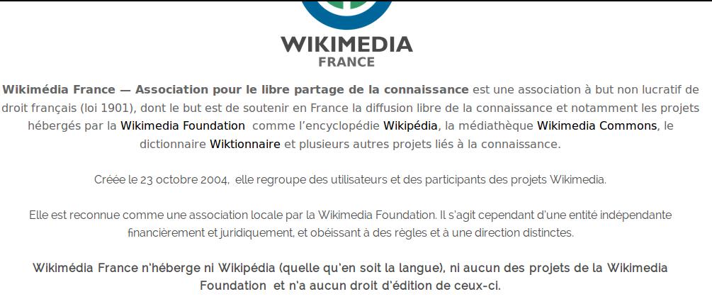 Wikipédia et Wikimédia France avec accents ; Wikimedia Commons sans accent.