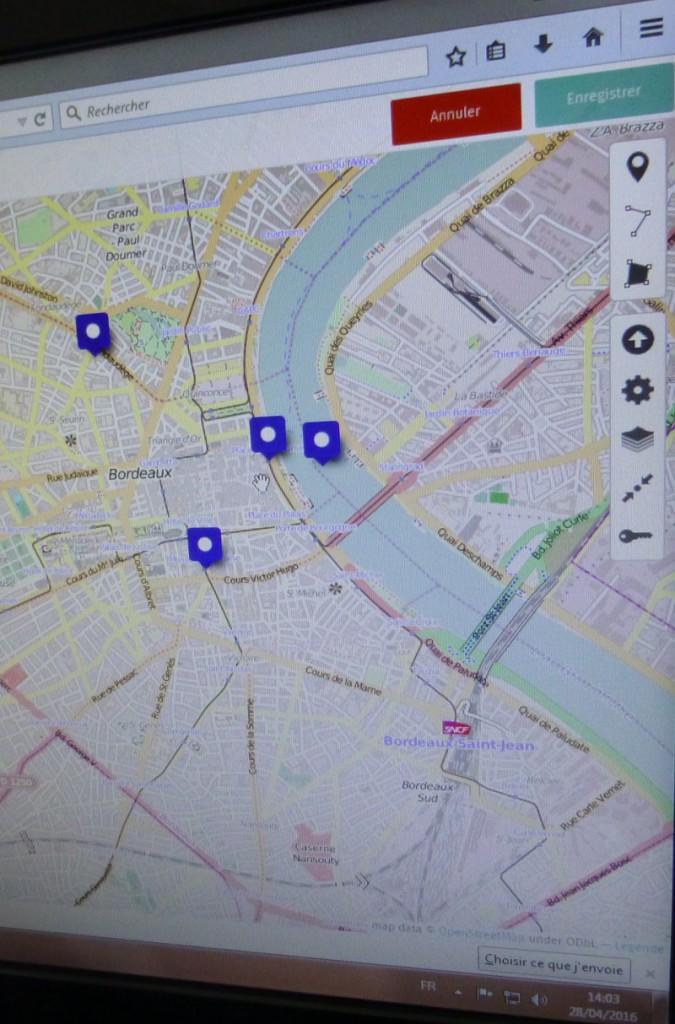 Cartographier Burdigala avant la visite.