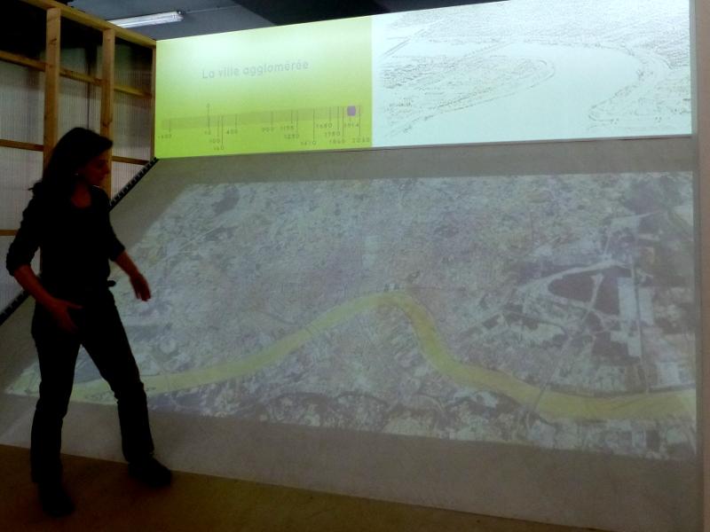 L'histoire de la ville, plan-relief, frise et croquis au CIAP, avant le départ.